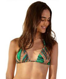 Tropical green triangle halter top - TOP BOREAL TAI