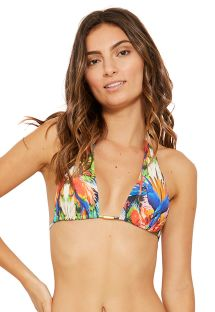 Haut triangle foulard tropical multicolore - TOP CARIBE ESPLENDOR