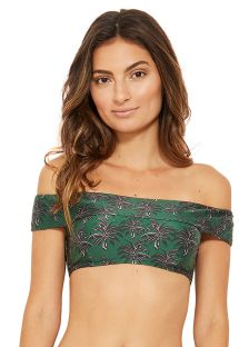 Crop top spalle scoperte verde - TOP CARMEM COQUI