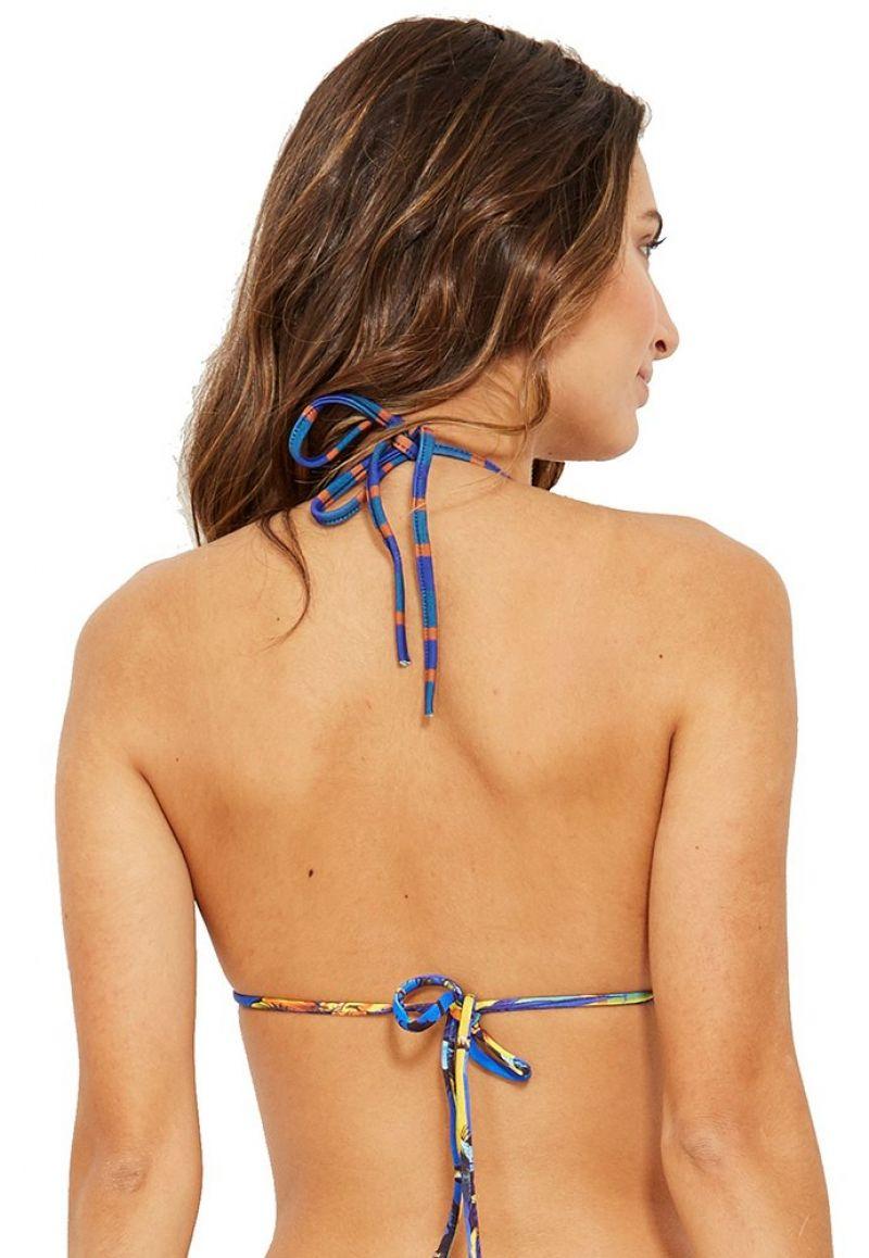 Triangle tropical bikini top wavy edges - TOP EVA ENTARDECER