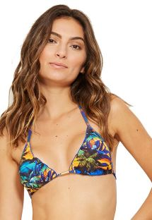 Triangle tropical bikini top wavy edges - TOP EVA ENTARDECER