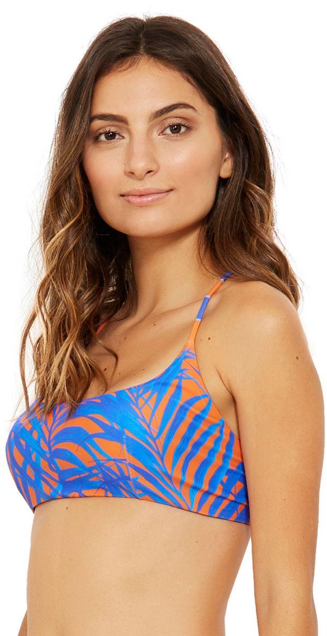 Blue and orange  bra top - TOP FUNK CAYENA