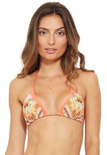 Orange printed sliding triangle bikini top - TOP ICEBERG ACALANTO