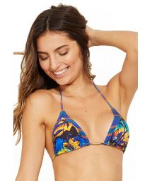 Triangle sliding bikini top in tropical print and stripes - TOP ICEBERG ENTARDECER