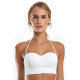 White underwired lace bralette top - TOP LAISE BRANCO
