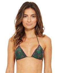 Green triangle bikini top in palm trees - TOP MEL COQUI
