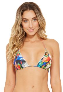 Top triángulo tropical colorido con bordes ondulados - TOP MEL ESPLENDOR
