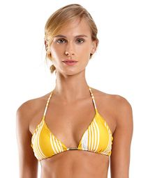Yellow & white striped triangle top with wavy edges - TOP MEL NASCA