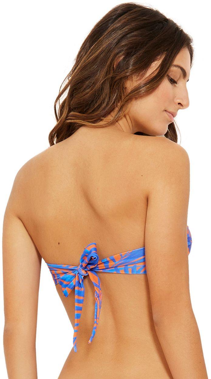 Blue and orange bandeau bikini - TOP OMEGA CAYENA