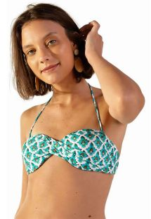 Mosaic-print twisted bandeau top - TOP POP ZAGORA