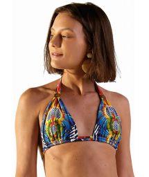 Colorful tropical triangle halter top - TOP PRADO COCARDE