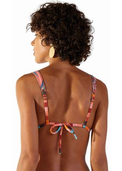 Haut triangle foulard tropical rose - TOP RIVIERA PALMAR