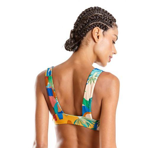 Colorful print wide straps bralette top - TOP SUM CARTAGENA