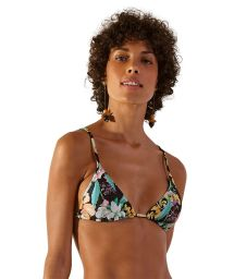 Tropical flowers sliding triangle top - TOP SUPER HAWAI