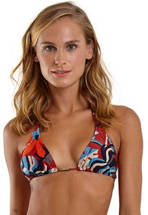 Red printed sliding triangle top - TOP TRIANGULO HAVANA