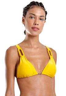 Yellow triangle top with rope details - TOP UBATUBA LISO AMARELO