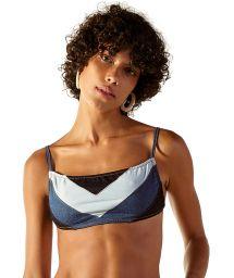 Tricolor jeans bikini top - TOP VENUS JEANS