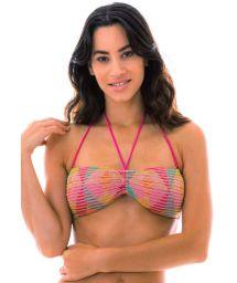 Bandeau multicolored crochet bikini top - TOP DALVA COLORIDO
