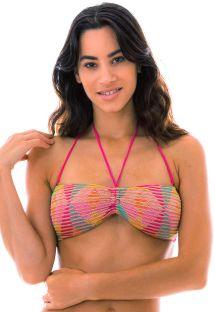 Farbenfroher Bandeau-Häkel-Bikinioberteil - TOP DALVA COLORIDO