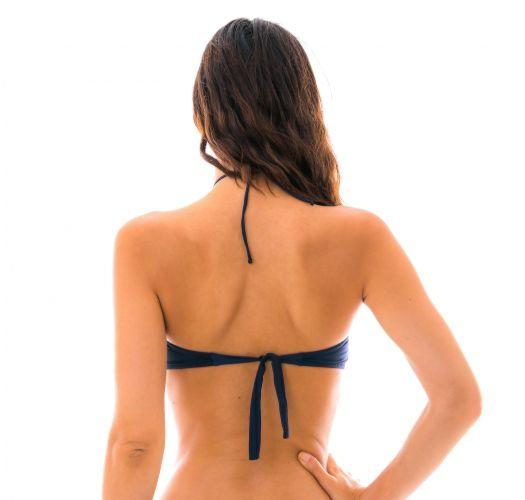 Blau/schwarzes Bandeau-Häkel-Bikini - TOP DIONE AZUL
