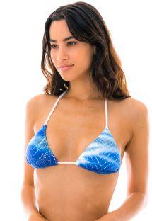 White and blue tie dye crochet bikini top - TOP ILSE