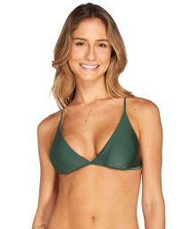 Deep green triangle top with multiposition straps - TOP AMAZONA VERDE