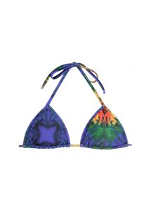 Glidende trekant bikini-top med tropisk mønster - SOUTIEN ARARA BRASIL