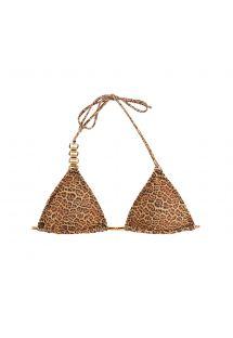 Parte superior de bikini con forma triangular, relleno desmontable y estampado animal - SOUTIEN BIKINI JAGUATIRIC