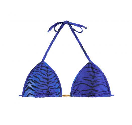 Sliding triangle top with blue tiger print - SOUTIEN TIGRE LULI AZUL