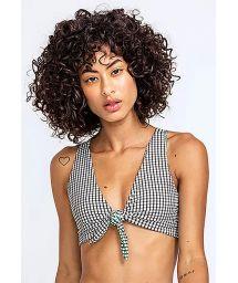 Reversible checked bra bikini top - TOP ASA DELTA XADREZ DUPLA FACE