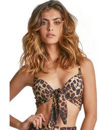 Balconette bikini top - leopard - TOP BIKINI ONÇA