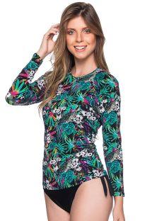 Feminine rashguard in a colorful floral print - MANGA LONGA ATALAIA
