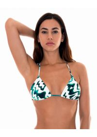 Two-tone printed slide triangle top - SOUTIEN ABSTRATO MINI