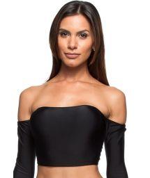 Black long-sleeved swimsuit crop-top - SOUTIEN AGUAS DO MAR