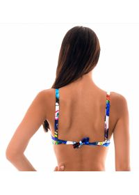 Tropical print push up bikini top - SOUTIEN ARARAS