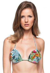 Colourful print padded triangle top - SOUTIEN CABO VERDE