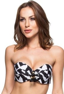 Black and white padded bandeau top - SOUTIEN MEL SILVESTRES