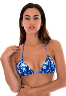Blue tropical sliding triangle top - SOUTIEN SABIA IGUAL