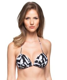 Black and white padded triangle top - SOUTIEN SOL DO CARIBE