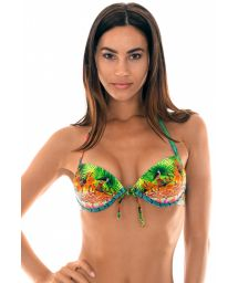 Tropical underwired push-up bikini top - SOUTIEN TERRA PARADISE FIO