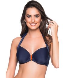 Accessorized navy blue balconette - TOP ALÇA MIRAMAR