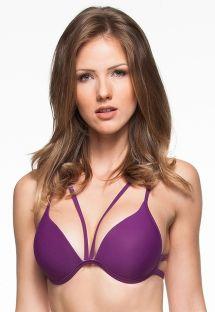 Top triangular strappy violeta c/ copas macias - TOP ARQUIPELAGO