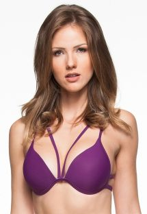 Plum strappy bikini top with molded cups - TOP ARQUIPELAGO