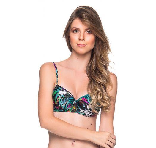 Fleurige kleurrijke balconnet bikinitop met voorgevormde cups - TOP BASE ATALAIA