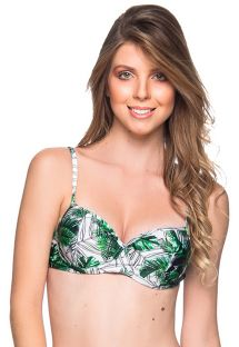 Green leaves underwired balconette - TOP BASE VIUVINHA