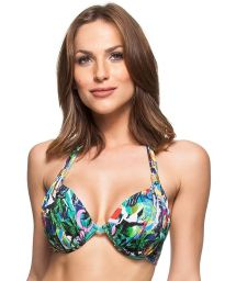Underwired balconette top - colorful Cuba print - TOP BETTA CUBA