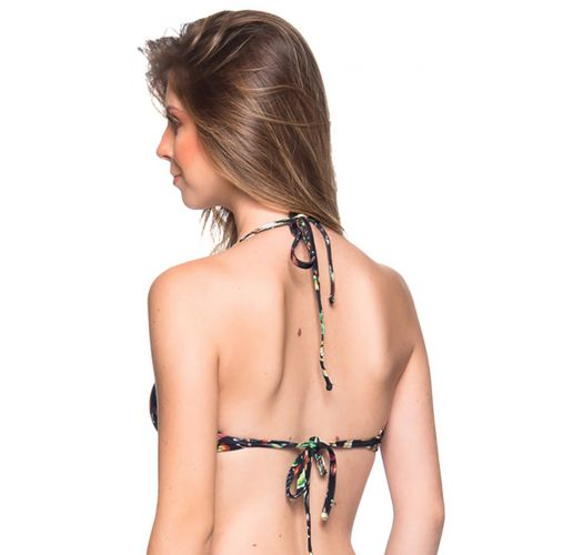Black floral underwired push-up balconette - TOP BOLHA DREAM