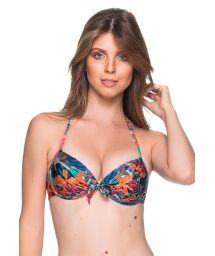 Tropical print underwired balconette push-up - TOP BOLHA NORONHA FLORAL