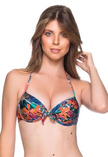 Push-Up-Balconette-Top mit Tropenprint - TOP BOLHA NORONHA FLORAL