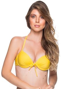 Yellow underwired push-up balconette - TOP BOLHA PAELLA